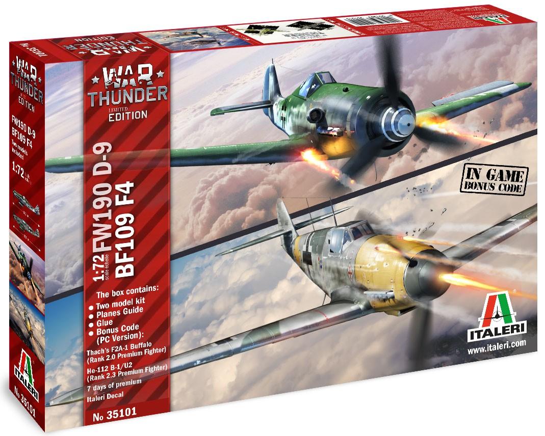 War Thunder - Bf109 F4 e Fw190 D-9 - 1/72 - Italeri 35101  - BLIMPS COMÉRCIO ELETRÔNICO