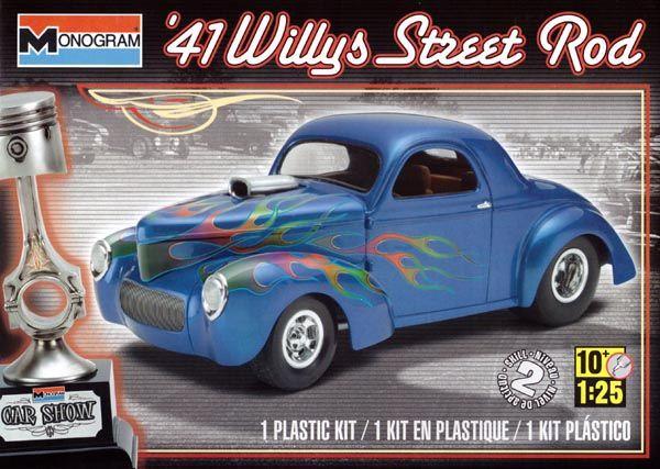 Willys Street Rod 1941 - 1/25 - Monogram 85-4909  - BLIMPS COMÉRCIO ELETRÔNICO