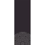 Tapete Yoga Mat Aveludado Mandala Black 1,80X0,65M