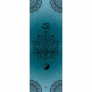 Tapete Yoga Mat Aveludado  Om Lótus Yin Yang 1,80x0,65m