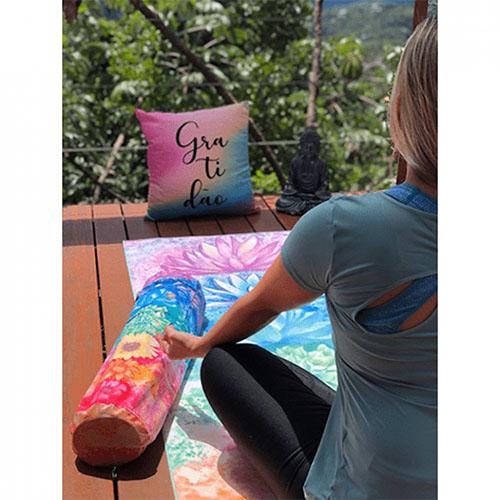Bolsa Para Tapete de Yoga Porta Mat Chakras Aquarela