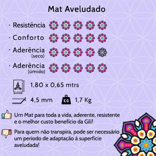 Tapete Mat Aveludado Hamsa Estelar 1,80x0,65m