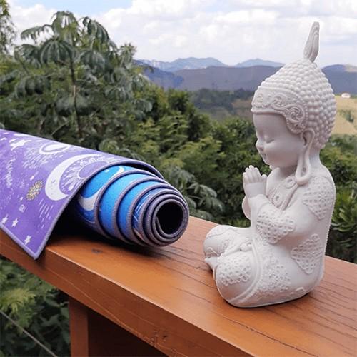 Tapete Yoga Mat Aveludado Signos 1,80x0,65m