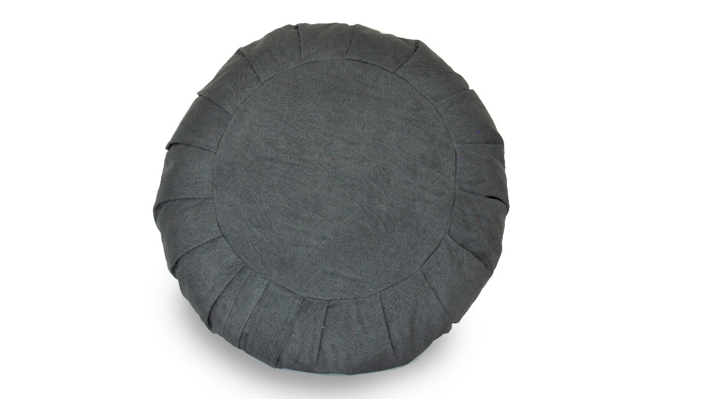 Zafu - Almofada Meditação Tradicional Tam. P Tecido Hidrorrepelente  30x11/14cm