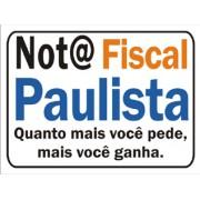 Placa Sinaliza��o NF. Paulista 15X20