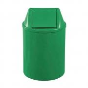 Lixeira Redonda 13 Litros Com Tampa Basculante Verde