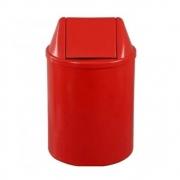 Lixeira Redonda 13 Litros Com Tampa Basculante Vermelha
