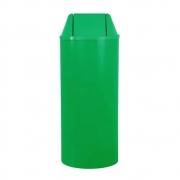 Lixeira Redonda 22 Litros Com Tampa Basculante Verde