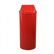 Lixeira Redonda 22 Litros Com Tampa Basculante Vermelha