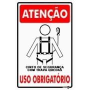 PLACA SINALIZAÇÃO USO OBRIGATÓRIO (CINTO COM TRAVA) - PS239