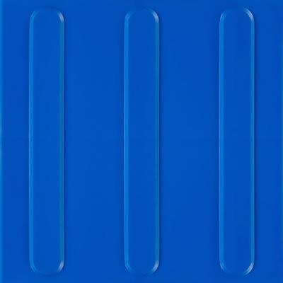 Piso Tátil Direcional 25x25cm Azul