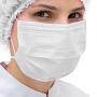 Máscara Cirúrgica Descartável Tripla Branca Cx. C/ 50 unidades - Borrachas Bem Te Vi