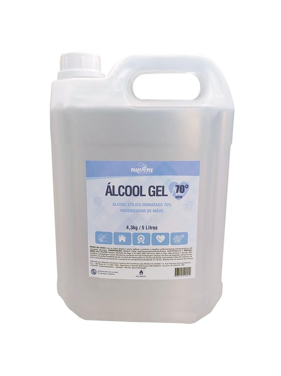 Álcool em Gel 70% INPM Anti-Séptico 5L.