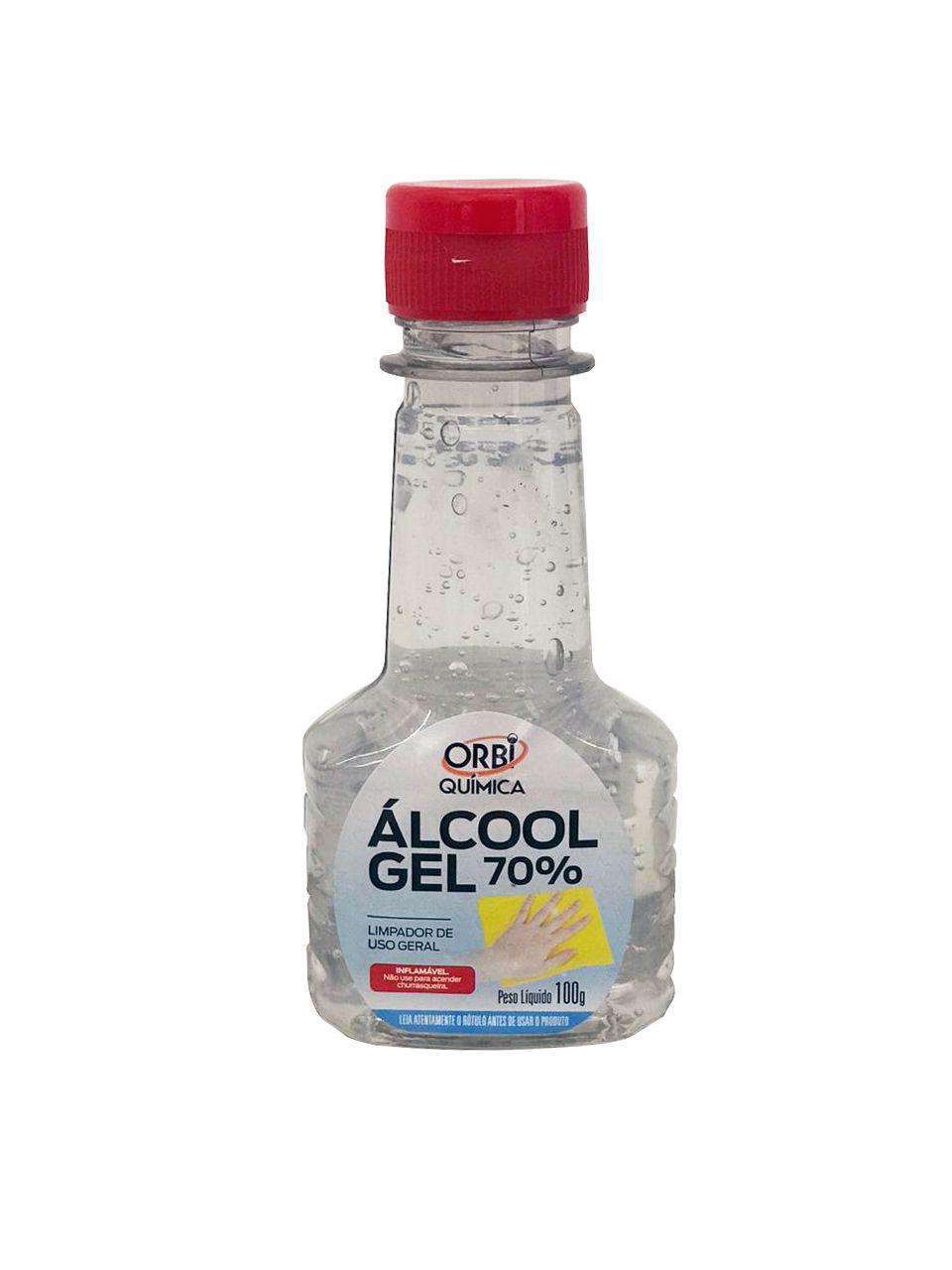 Álcool em Gel 70% INPM Orbi Química 100ml