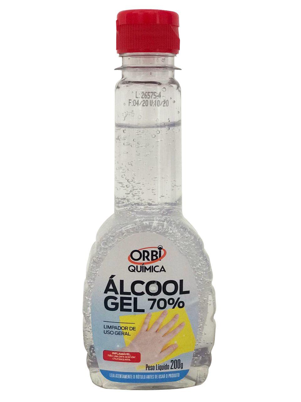 Álcool em Gel 70% INPM Orbi Química 200ml