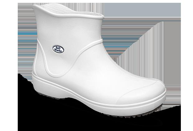 Bota Cano Curto Antiderrapante Soft Works BB85 Branco