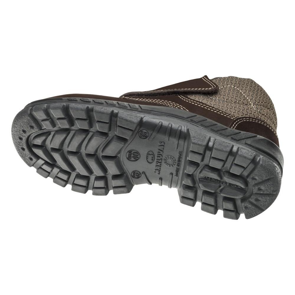 Botina Nobuck 50B26 Velcro Bico de Plástico Marluvas