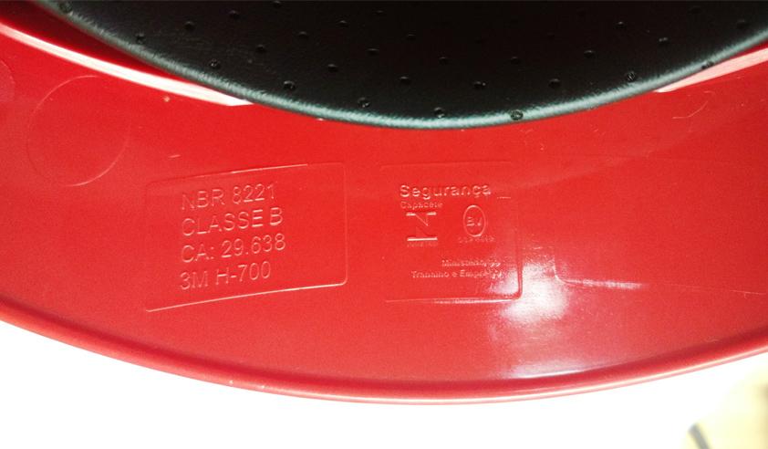 Capacete H700 C/ Jugular E Suspensão Catraca Sem Ventilação 3m