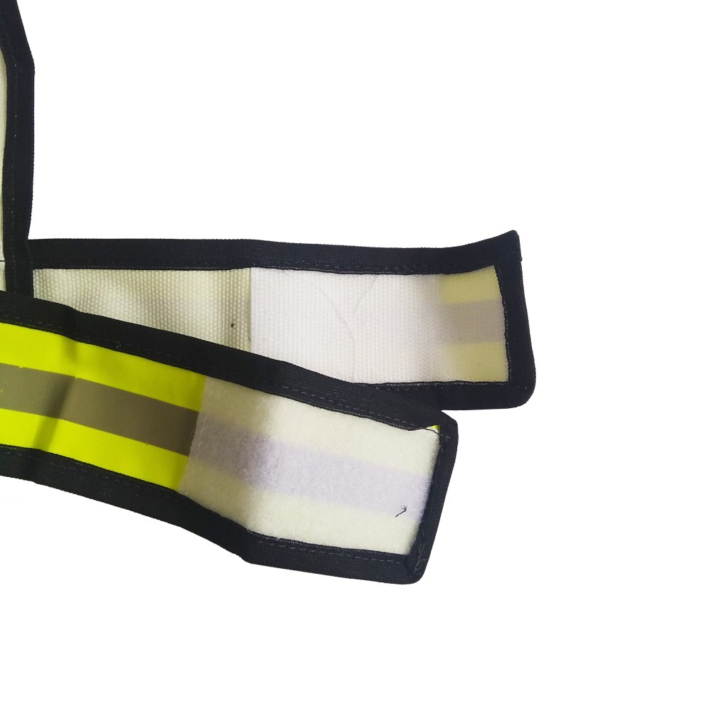 Colete De Sinalização De Pvc Tipo X Amarelo Refletivo
