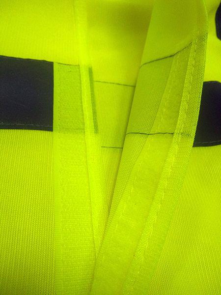 Colete Refletivo De Poliéster Amarelo com Fechamento Frontal e Ombros em Velcro Tam. P