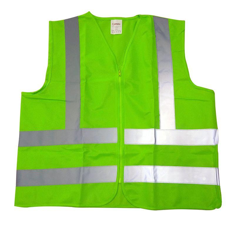 Colete Refletivo De Poliéster Verde com Fechamento em Zíper Tam. P
