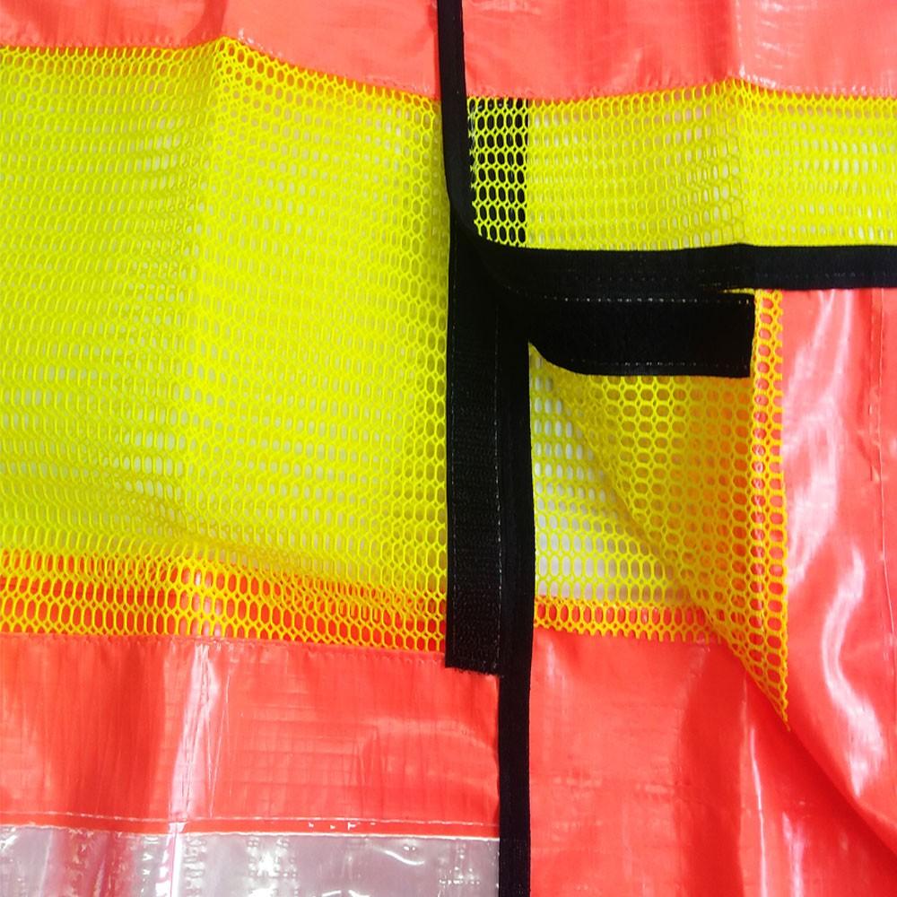 Colete Refletivo Laranja com Tela Amarela Fechamento em Velcro Tam. G