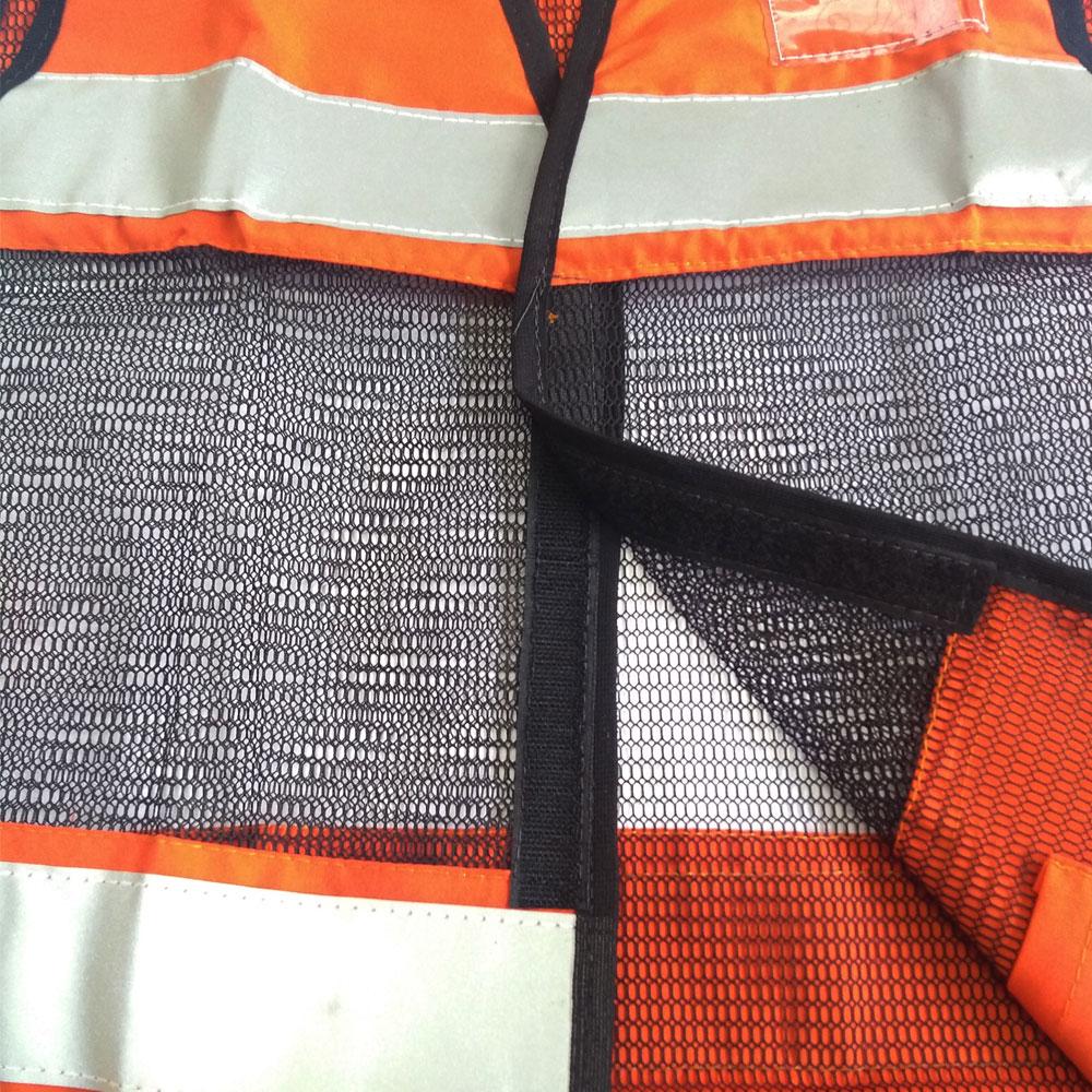 Colete Refletivo Laranja com Tela Preta Fechamento em Velcro Tam. Único
