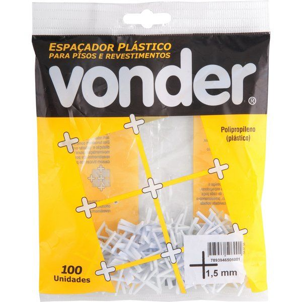 Espaçador Plástico 1,5mm Pct. C/ 100 Peças Vonder