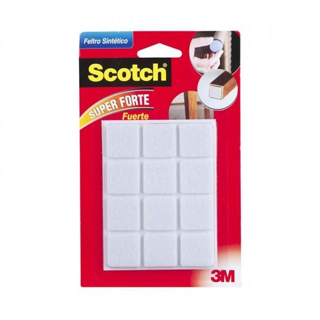 Feltro Sintético Branco Quadrado M Scotch 12 Unidades 3m