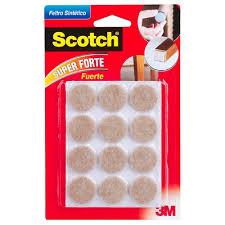 Feltro Sintético Marrom Redondo P Scotch 12 Unidades 3m