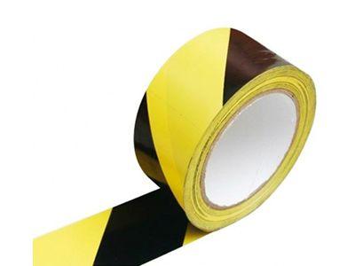 Fita Demarcação De Solo Amarela E Preta 48x30
