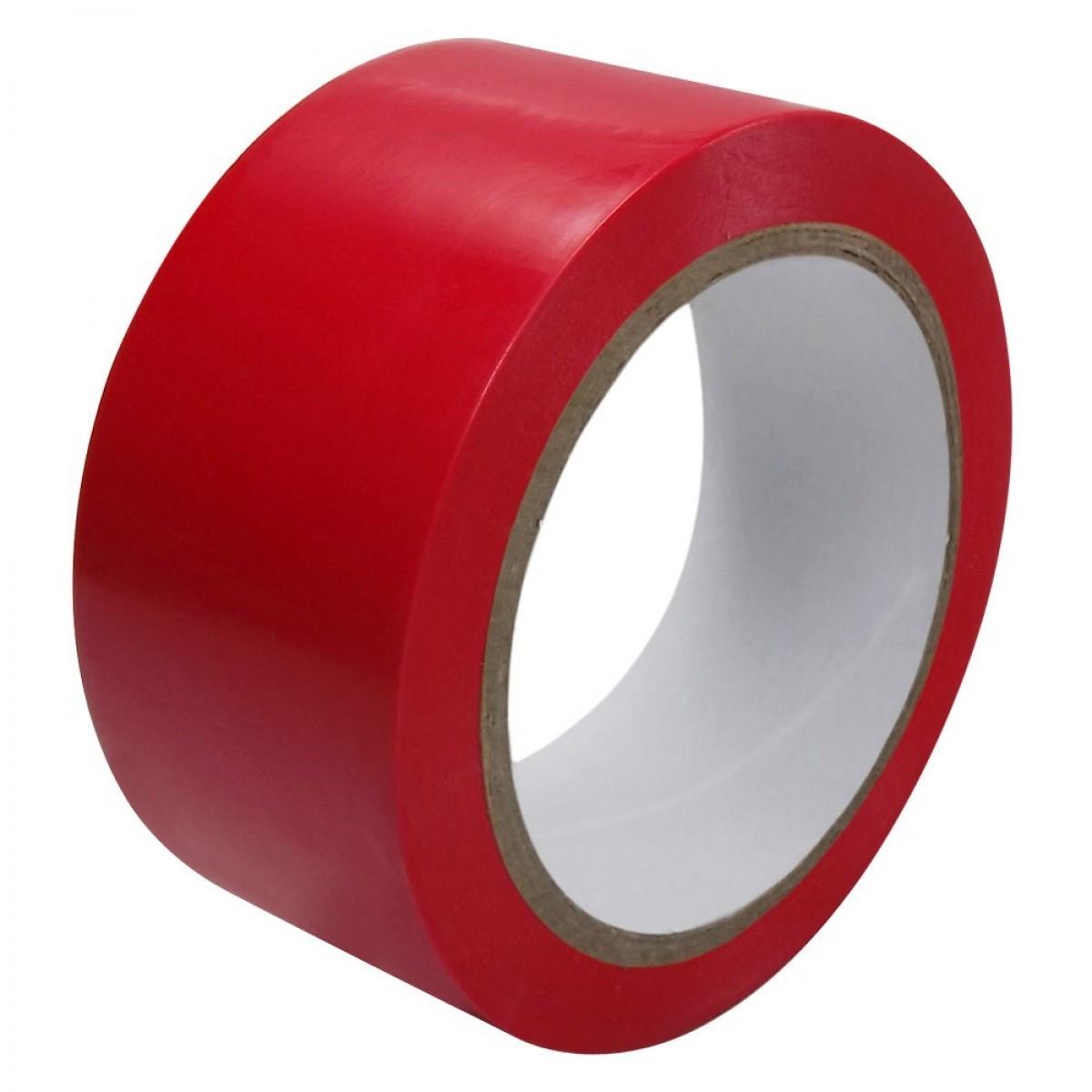 Fita Demarcação De Solo Vermelha 48x30