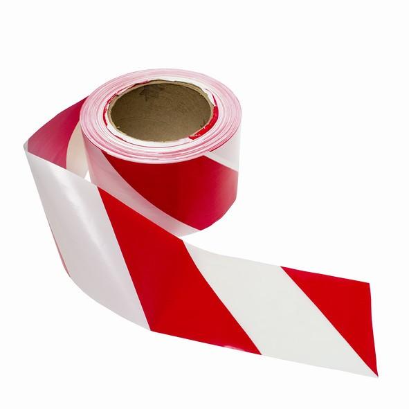 Fita Demarcação De Solo Vermelha E Branca 48x30