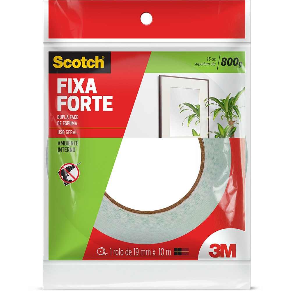 Fita Fixa Forte Dupla Face 19mmX10m 3m