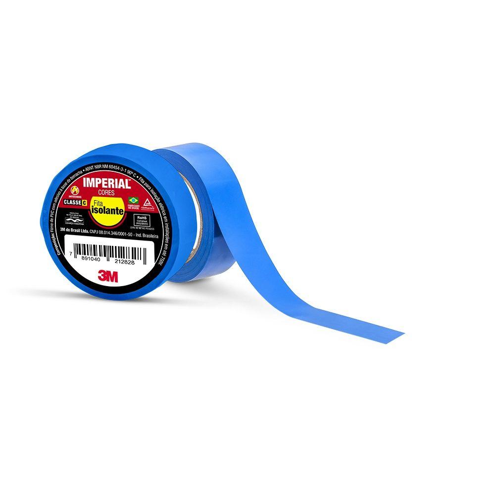 Fita Isolante Imperial Azul 18mm X 10m 3m
