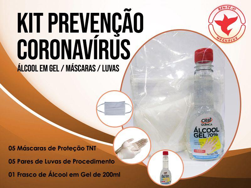 Kit Prevenção Contra Vírus