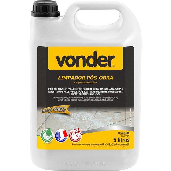 Limpador Pós Obra Biodegradável 5 Litros Vonder