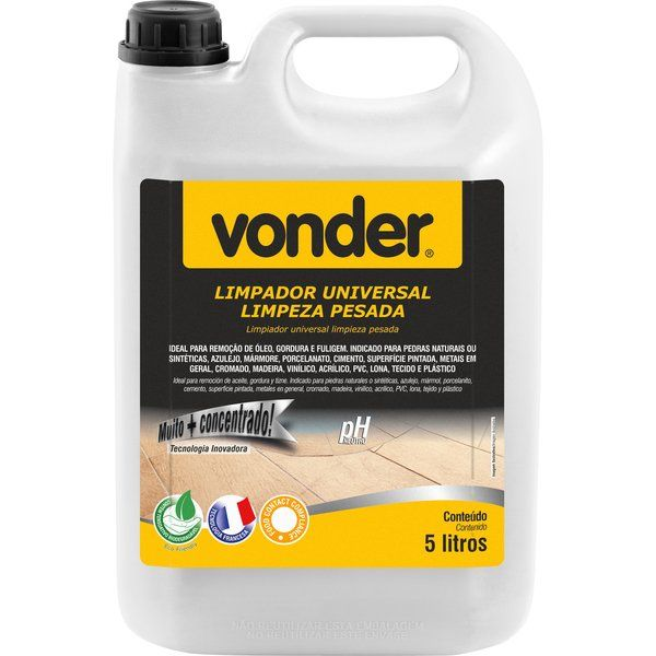 Limpador Universal Limpeza Pesada 5 Litros Vonder
