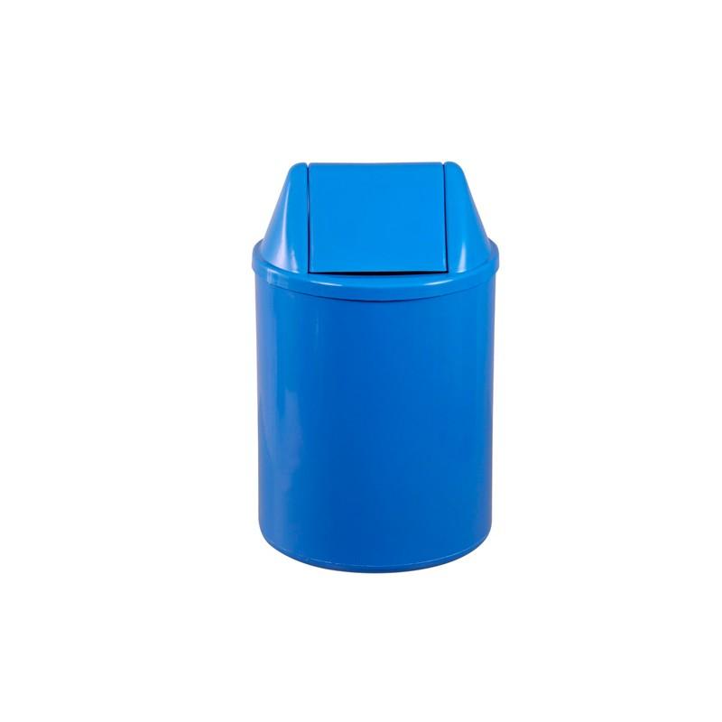 Lixeira Redonda 13 Litros Com Tampa Basculante Azul