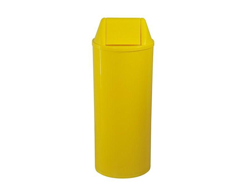 Lixeira Redonda 22 Litros Com Tampa Basculante Amarela