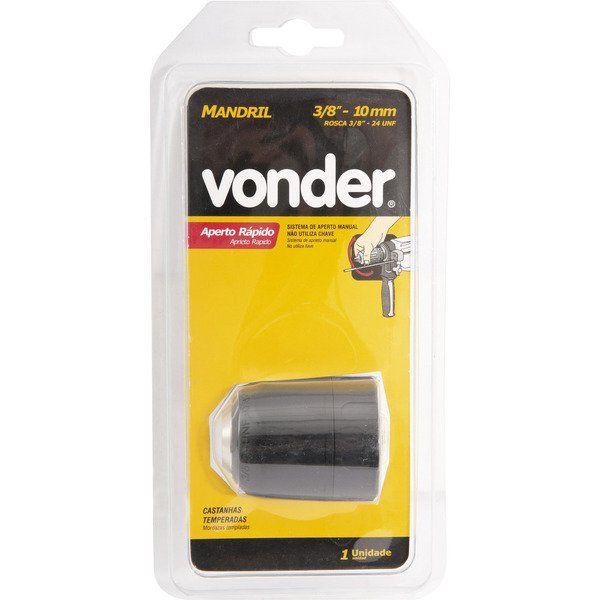 Mandril Aperto Rápido 13mm Rosca 1/2 Polegadas Vonder