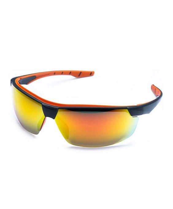 Óculos Neon Vermelho Espelhado Steelflex