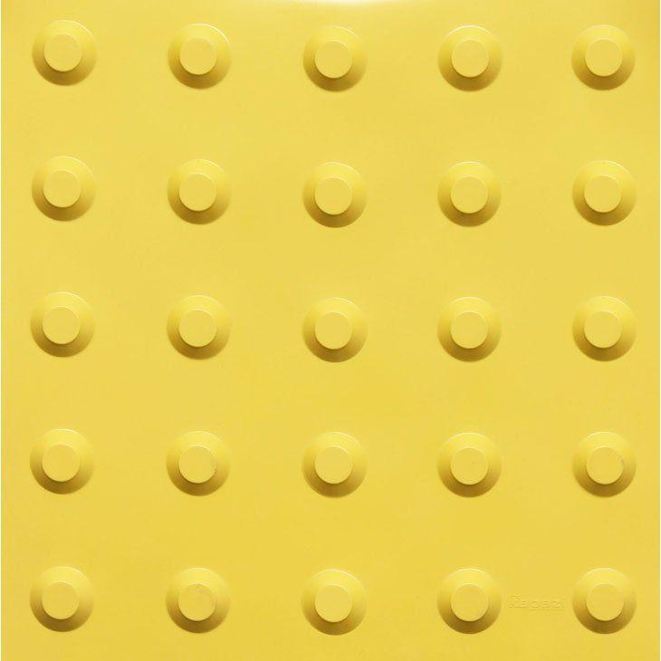 Piso Tátil Alerta 25x25cm Amarelo