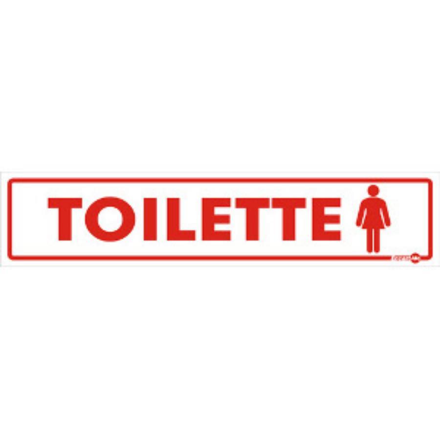 Placa De Sinalização Toilette Feminino 30 X 6,5cm - 0,80mm