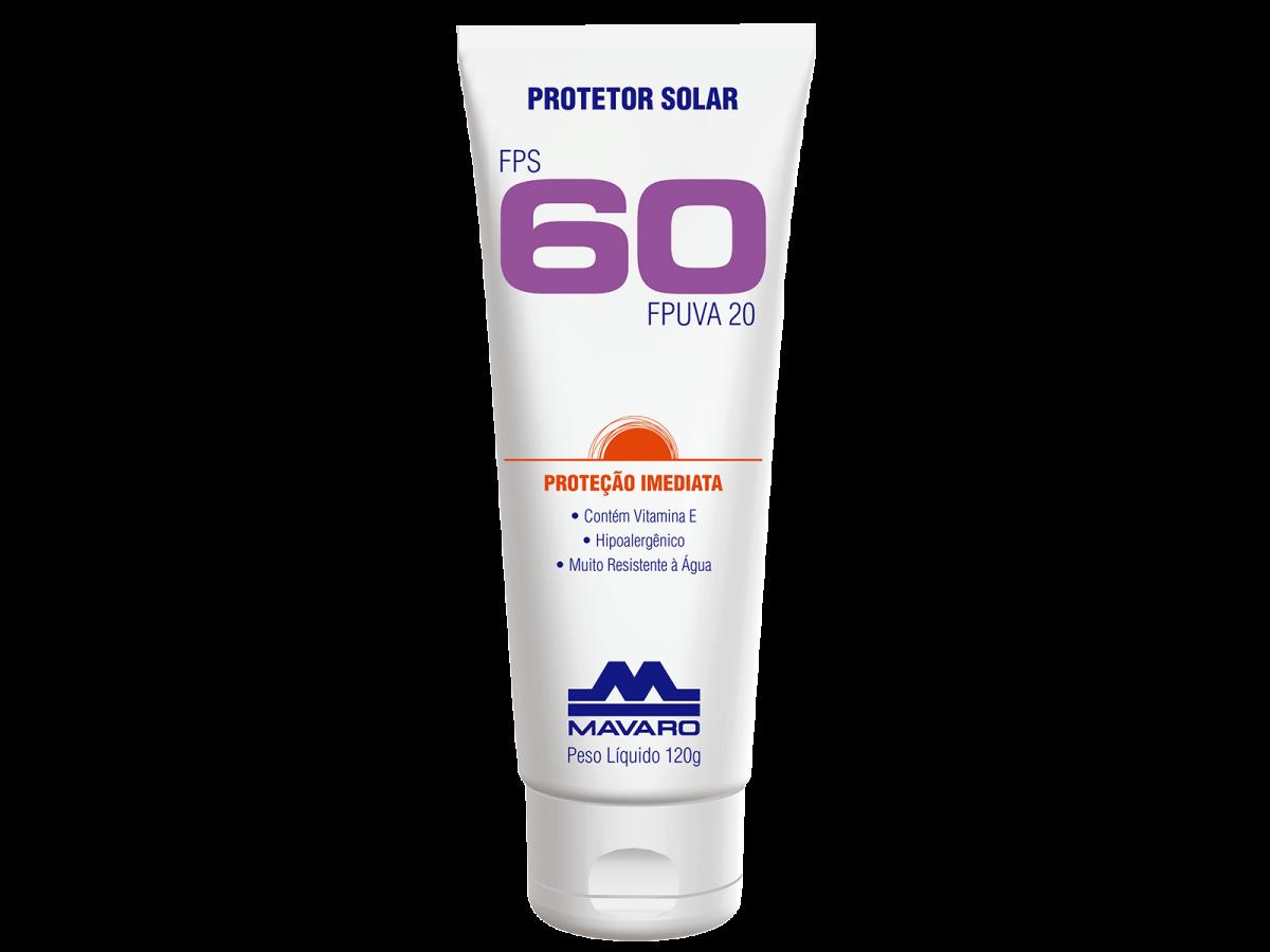 Protetor Solar Fps60 120gr Mavaro