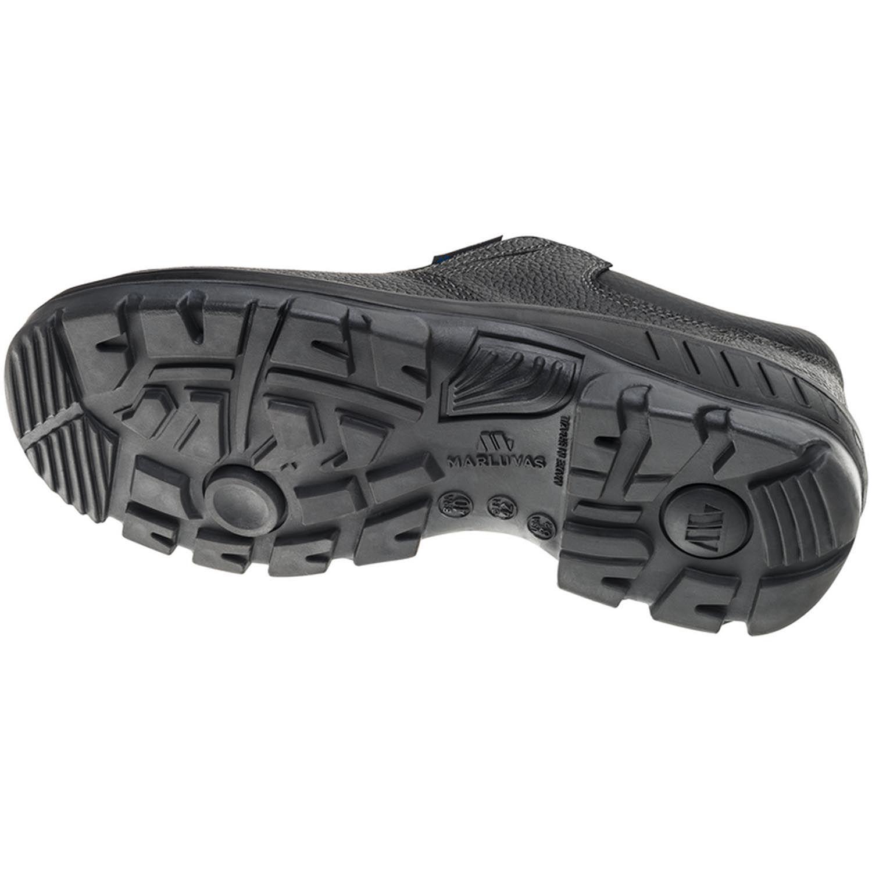 Sapato 95S19 Preto Elástico Bico Plástico Marluvas
