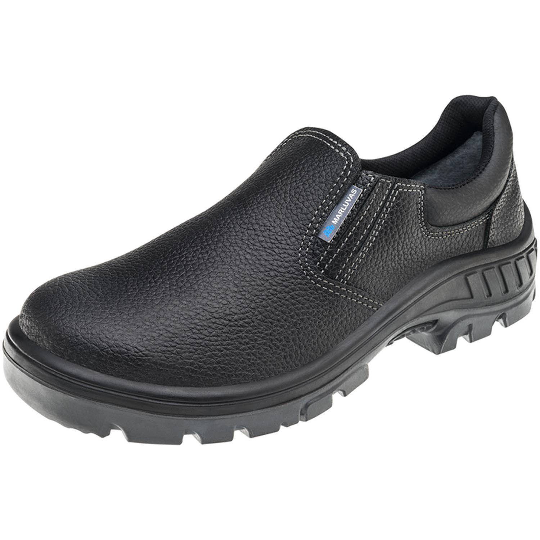 Sapato 95S19A Preto Elástico Bico Aço Marluvas