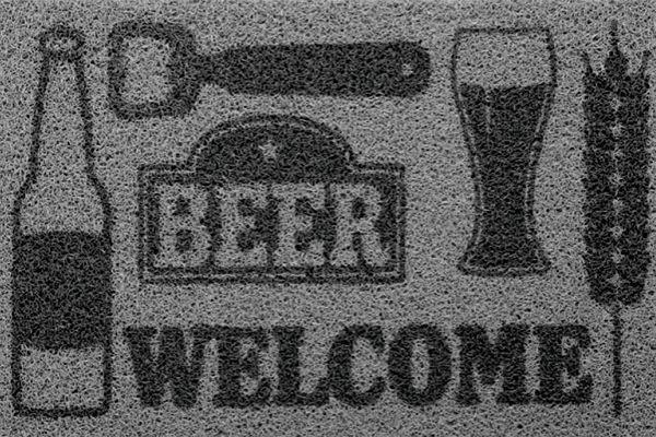 Tapete Vinil Super Print Beer Welcome 40cmX60cm Kapazi