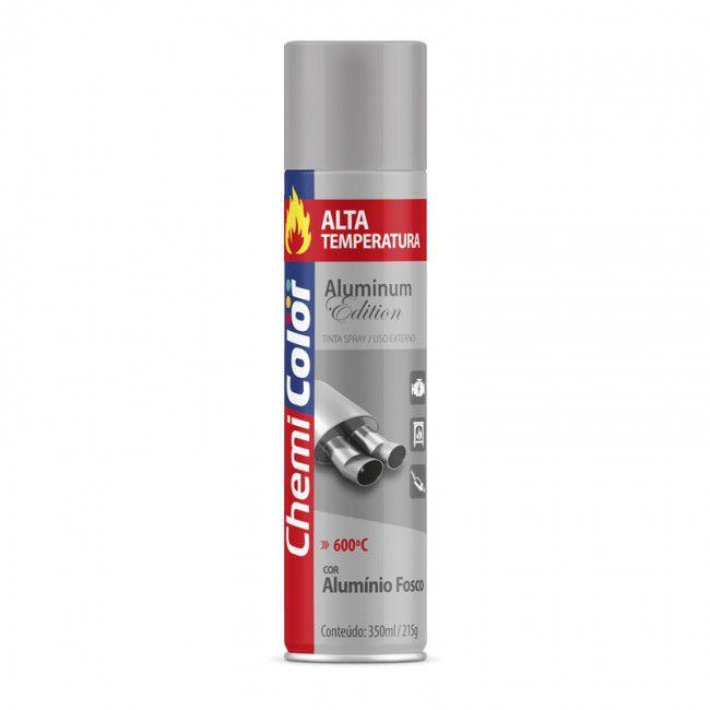 Tinta Spray Alta Temperatura Fosco 350ml Chemicolor