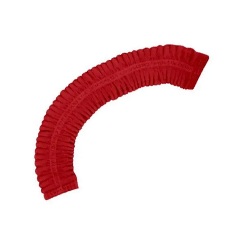 Touca Sanfonada Descartável Vermelha Tnt Pct. 100 Unidades